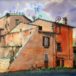 Urban scenic of Trastevere, Rome. — Stock Photo