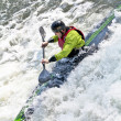 White run canoeist — Stock Photo
