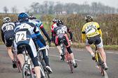 Racing cyclists — Stock Photo