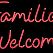 Stock Photo: Families welcome