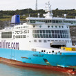 Passenger ferry at Dover port — Stockfoto