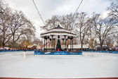 Hyde Park Ice Rink — Stock Photo