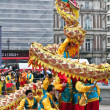 Chinese Dragon dance at New Year celebrations — Stock Photo