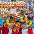 Stock Photo: Chinese Dragon dance