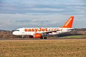 Avión en posición de despegue — Foto de Stock