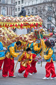 Chinese Dragon dance — Stock Photo