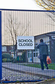 Schools closed due to strikes — Stock Photo