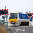 Stock Photo: Level crossing