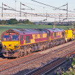 Foto de Stock  : Modern freight train - infrastructure support