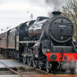 Black 5 entering Ramsbottom station — Stock Photo