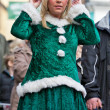 Attractive christmas festival elf — Stock Photo