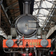 Royalty-Free Stock Photo: Steam loco in an old railway shed