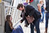 Londons beggars — Stock Photo