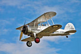 Gloster Gladiator aerobatics show — Stock Photo