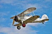 Gloster Gladiator aerobatics show — Stock Photo