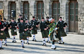Pipes band marching — Stock Photo