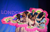 Diwali dance troupe — Stock Photo