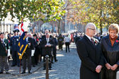Armistice day veterans and mourners — Stock Photo