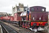 паровая грузового поезда — Стоковое фото
