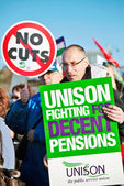 Unii pracowników na strajk — Zdjęcie stockowe