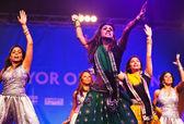 Dançarinos de diwali — Foto Stock
