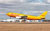 DHL international cargo — Stock Photo