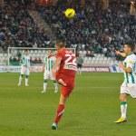 Miguel Gonzalez in match league Cordoba vs Girona — Stock Photo
