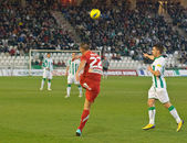 Miguel Gonzalez in match league Cordoba vs Girona — Stock Photo