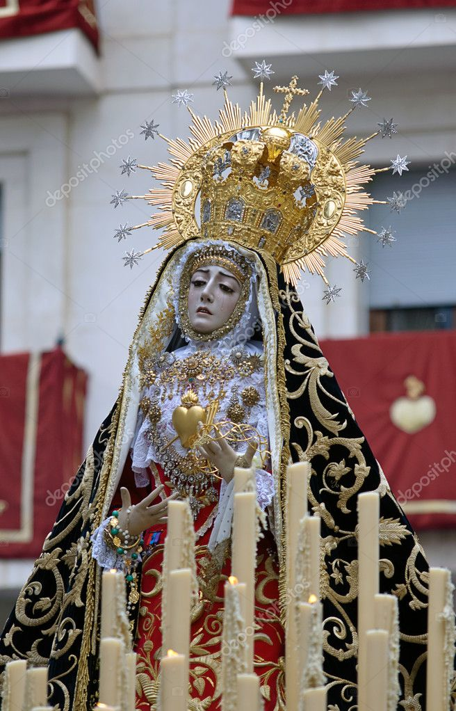 Virgin of pains, Easter Cordoba 2012  Stock Photo #10132760
