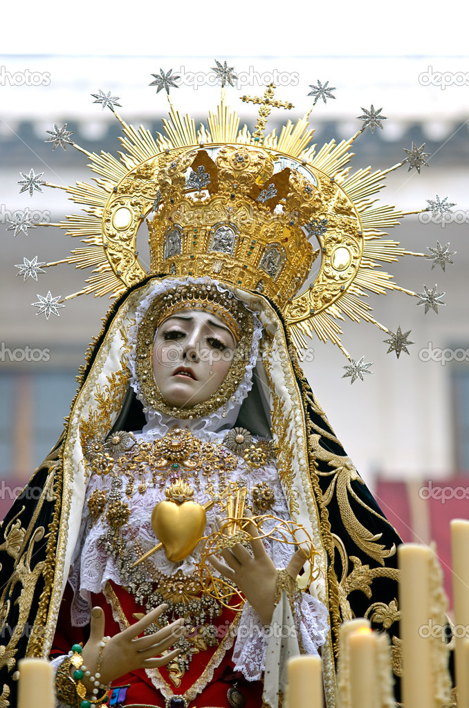 Virgin of pains, Easter Cordoba 2012  Stock Photo #10132783