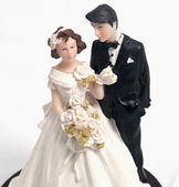 Wedding cake dolls — Stock Photo