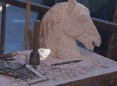 Table sculpture workshop — Stock Photo