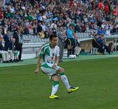 Charles Dias (W 11) in action during match league Cordoba vs Hercules — Stock Photo