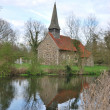Stock Photo: Church by river