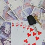 Big poker win — Stock Photo