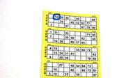 Carta di bingo con un numero — Foto Stock