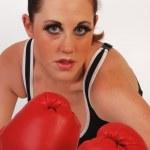 Female boxer — Stock Photo
