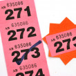 Winning raffle ticket — Stock Photo #9340335