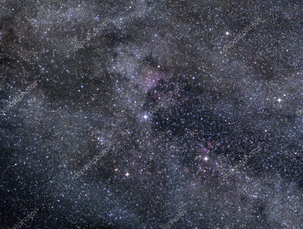 Astronomical image of rich star field in Cygnus constellation — Foto Stock #8532432