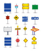Set of road sign — Stock Vector