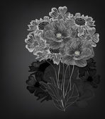 手绘花卉组成 — 图库矢量图片