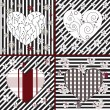 Collection of artistic hearts — ストックベクタ