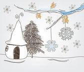 Fantasy winter landscape — Stock Vector