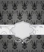 Elegant invitation card with diamonds — Stock Vector