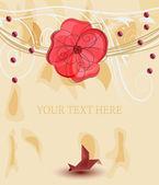 Romantic template for invitation card — Cтоковый вектор
