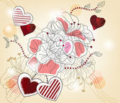 Artistic valentine composition — Stock Vector