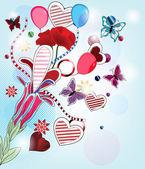 Love for fantasy series - spring fantasy postcard — Stock Vector
