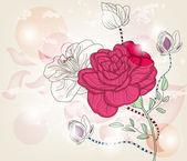 романтические розы открытка с пространством для текста — Cтоковый вектор