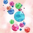 Abstract background with shining soap bubbles — Stock Vector