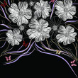 Royalty-Free Stock Imagen vectorial: Artistic hand drawn floral background